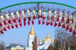 Uova di Pasqua in Kyiv Fotografie Stock