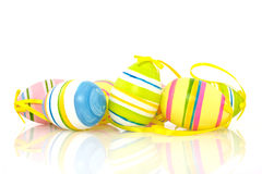 Uova di Pasqua luminose variopinte Fotografia Stock Libera da Diritti