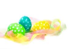 Uova di Pasqua Macchiate Fotografie Stock Libere da Diritti