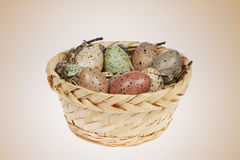 Uova di Pasqua in macchioline macchiate immagine stock