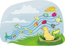 Uova di Pasqua - Melodia della sorgente Illustrazione di Stock