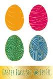 Uova di Pasqua messe con il modello Illustrazione di vettore Immagini Stock Libere da Diritti