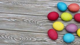 Uova di Pasqua multicolori Fotografie Stock