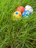 Uova di Pasqua nascoste Fotografia Stock Libera da Diritti