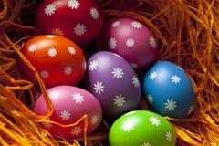 Uova di Pasqua Nel nido Immagini Stock Libere da Diritti