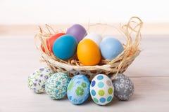 Uova di Pasqua pastelli Fotografia Stock Libera da Diritti