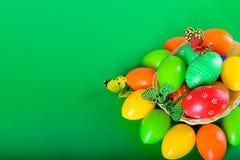 Uova di Pasqua per la festa cristiana Fotografia Stock