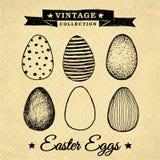 Uova di Pasqua - raccolta d'annata Fotografia Stock