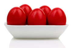 Uova di Pasqua rosse Immagine Stock Libera da Diritti
