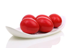 Uova di Pasqua rosse Immagini Stock Libere da Diritti