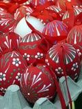 Uova di Pasqua Rosse Immagini Stock
