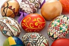 Uova di Pasqua rumene tradizionali Fotografia Stock
