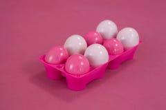Uova di Pasqua In scatola dell'uovo Immagine Stock Libera da Diritti