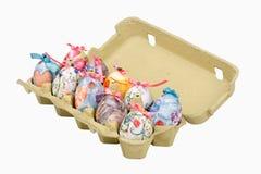 Uova di Pasqua In scatola delle uova Fotografie Stock