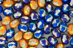 Uova di Pasqua spostate del cioccolato Fotografia Stock Libera da Diritti