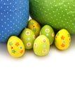 Uova di Pasqua Spostate del cioccolato dalla parte superiore Fotografia Stock Libera da Diritti