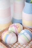 Uova di Pasqua Spostate filato Immagini Stock Libere da Diritti