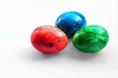 Uova di Pasqua Su bianco Immagine Stock Libera da Diritti