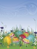 Uova di Pasqua Su erba 02 Fotografie Stock Libere da Diritti