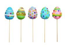 Uova di Pasqua su un bastone Immagini Stock