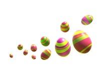 Uova di Pasqua sul bianco Immagini Stock