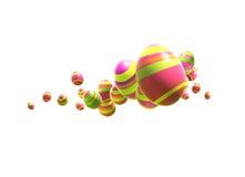 Uova di Pasqua sul bianco Fotografia Stock Libera da Diritti