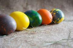 Uova di Pasqua sulla borsa Immagine Stock