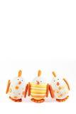 Uova di Pasqua Sveglie - scheda di pasqua felice Fotografie Stock Libere da Diritti