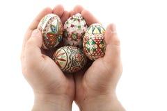 Uova di Pasqua tradizionali Fotografia Stock Libera da Diritti