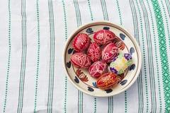 Uova di Pasqua tradizionali Fotografie Stock Libere da Diritti
