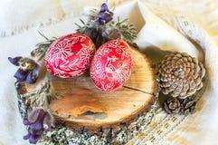 Uova di Pasqua tradizionali dello slavo Fotografia Stock Libera da Diritti
