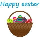 Uova di Pasqua In un cestino illustrazione vettoriale
