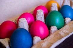 Uova di Pasqua Variopinte Immagine Stock Libera da Diritti