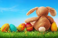 Uova di Pasqua variopinte Immagine Stock