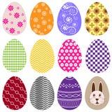 Uova di Pasqua Variopinte illustrazione di stock