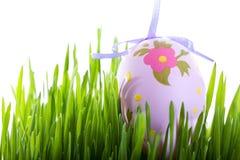 Uova di Pasqua Variopinte qui sopra Fotografie Stock