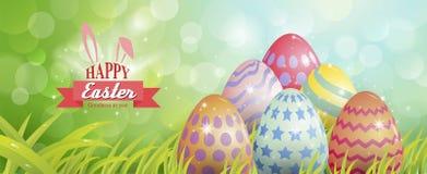 Uova di Pasqua variopinte, tipografia Fotografia Stock Libera da Diritti