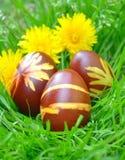 Uova di Pasqua Variopinte verniciate Fotografia Stock
