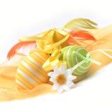 Uova di Pasqua variopinte verniciate Immagine Stock