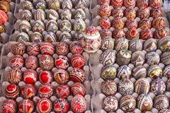 Uova di Pasqua verniciate Immagine Stock