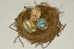 Uova di Pasqua verniciate Fotografie Stock Libere da Diritti