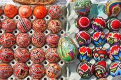 Uova di Pasqua verniciate Fotografia Stock