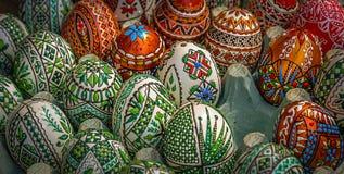 Uova di Pasqua Verniciate tradizionali Fotografia Stock