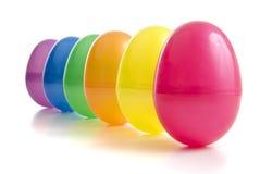 uova di plastica colorate vibranti Immagine Stock Libera da Diritti
