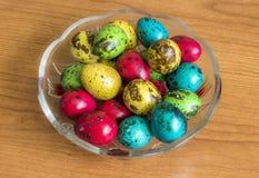 Uova di quaglia di Pasqua Fotografia Stock Libera da Diritti