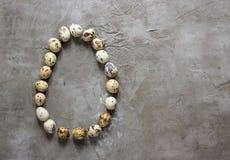 Uova di quaglia di una forma delle uova Immagini Stock Libere da Diritti