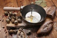 Uova di quaglia rimescolate Fotografia Stock Libera da Diritti