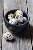 Uova di quaglia in una ciotola Fotografie Stock Libere da Diritti