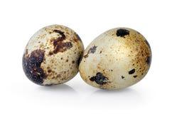 Uova di quaglie su priorità bassa bianca Fotografie Stock Libere da Diritti