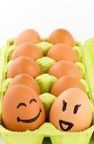 Uova di smiley Fotografie Stock Libere da Diritti